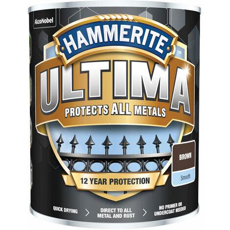 Hammerite 5362530 Ultima Metal Paint Smooth Brown 750ml
