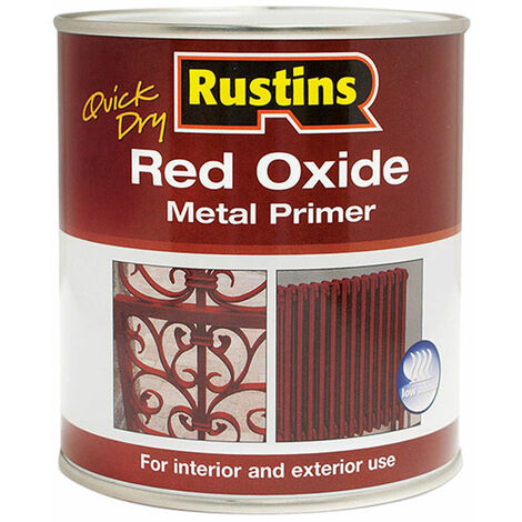 Rustins REDOW250 Quick Dry Red Oxide Metal Primer 250ml