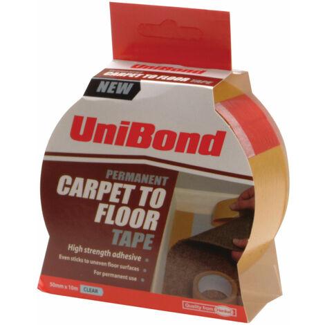 UniBond 1667748 Carpet Tape Permanent 50mm x 10m