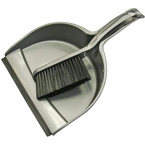 Faithfull PB100S Dustpan & Brush Set Plastic (220mm)