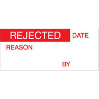 Rejected Labels, Red On Nylon Cloth 38 x 15mm, Pack Of 140