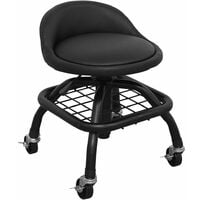 Sealey SCR02B Creeper Stool Pneumatic + Adjustable Height Swivel Seat & BackRest