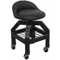 Sealey SCR03B Creeper Stool Pneumatic + Adjustable Height Swivel Seat & BackRest