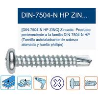 Tornillo punta broca DIN 7504-P phillips zincado 4,2 x 16 Index ABP4216