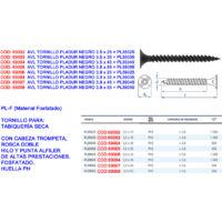 Index PL39048 Tornillo fosfatado negro pladur 3,9 x 48