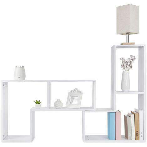 Estanterías Blancas para Pared Madera Estante Flotante Pared DIY---|mueble de TV |mesa de café |estantería|