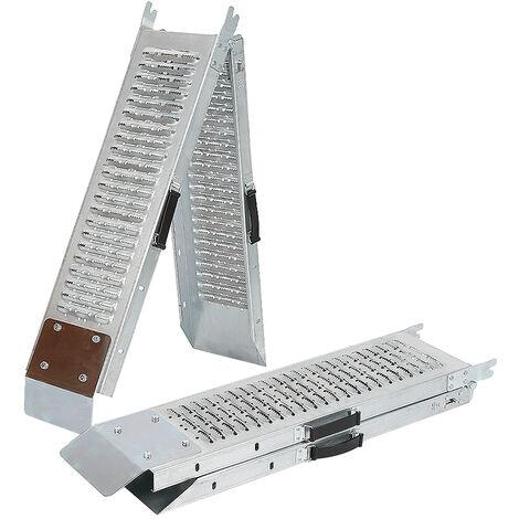 2 x Rampa Carga Descarga 400 kg| Rampa de carga, par Rampa, rampa de carga Acero plegable 167x22.5cm