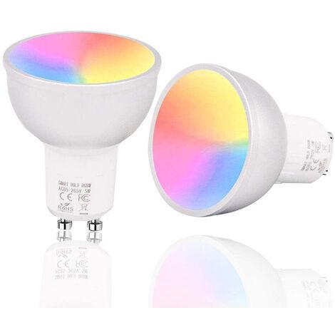 2x Bombilla LED Spotlight GU10  5W Equi.50W Blanco frio