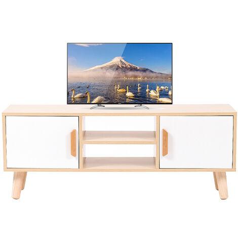 Mueble TV con cajón,Mesa de salón Soporte para TV, Mesa de Café para Dormitorio Sala de Estar 110x30x42cm