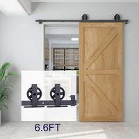 Puertas Kit de Accesorios para Puerta Correderas de Granero Puerta Montaje Juego de Piezas (Rueda grande tipo T)