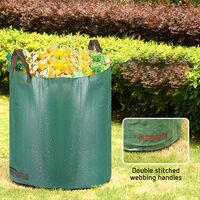 Bolsas jardín Sacos Hojas Hierba Césped Basura Residuos Saco de basura de jardín 272L Jardinería Plantas �rboles