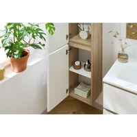 Ensemble de salle de bain meuble 120 cm ALANI avec colonne Marron - Marron