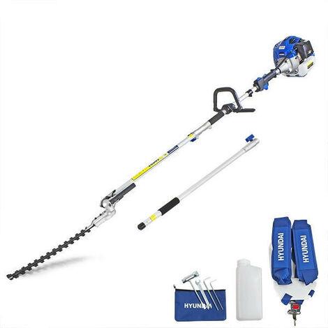 Hyundai 52cc Long Reach Petrol Pole Hedge Trimmer/Pruner   HYPT5200X