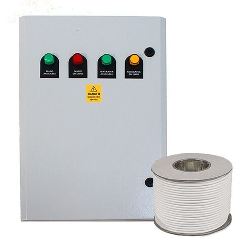 125Amp 4 Pole ATS Automatic Transfer Switch Package for 3 Phase Diesel Generators