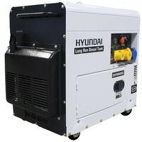 Hyundai 6kW/7.5kVA Long Run Standby Diesel Generator Single Phase   DHY8000SELR