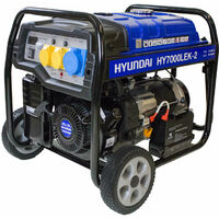 Hyundai 5.5kW / 6.8kVa* Recoil and Electric Start Site Petrol Generator   HY7000LEK-2
