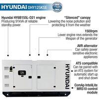 Hyundai 100kW/125kVA Three Phase Diesel Generator | DHY125KSE