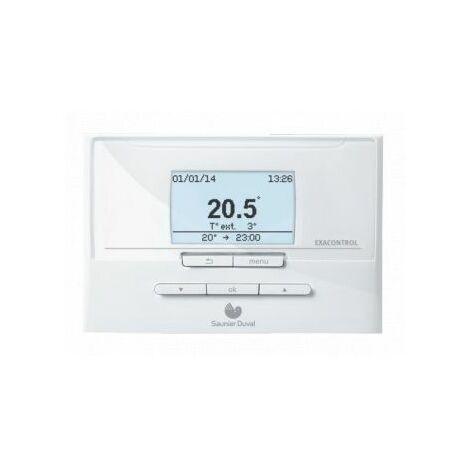 Thermostat dAmbiance Filaire Modulant Programamble Exacontrol E7C Saunier Duval
