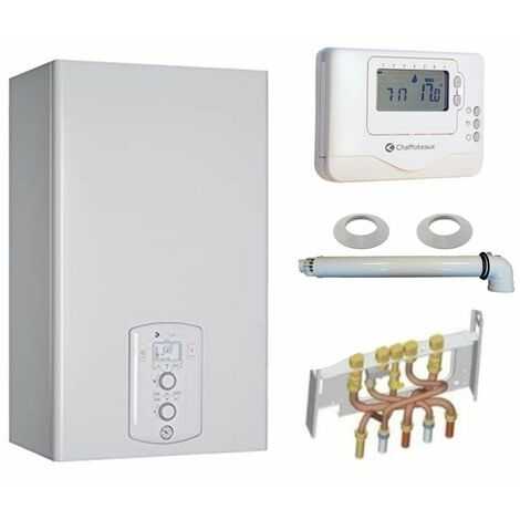 Chaudière Gaz Condensation Niagara C Green 25 kW Complète (Ventouse + Douilles + Dosseret) avec Thermostat Filaire