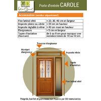 -PORTE D' ENTREE MODELE 'CAROLE' 200X90 POUSSANT DROITE