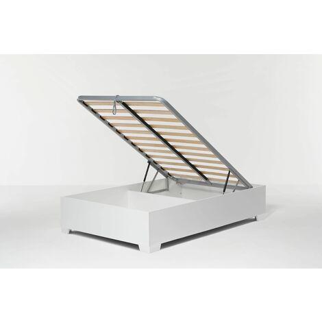 Letto Contenitore Cangu' Bed Box 120X190 C/Piedini Bianco