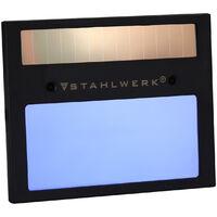 STAHLWERK ST-450RC Casque de soudage automatique, paramètres réglables, y compris 5 disques de rechange, 7 ans de garantie * sur filtre, carbone