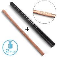 STAHLWERK TIG Baguettes à souder ER70S-G3 Acier/Ø 2,5 x 500 mm / 2 kg TIG Consommables de soudage Matériau d'addition Boîte de rangement incluse