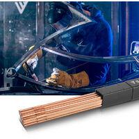 STAHLWERK TIG Baguettes à souder ER70S-G3 Acier/Ø 2,5 x 500 mm / 1 kg TIG Consommables de soudage Matériau d'addition Boîte de rangement incluse