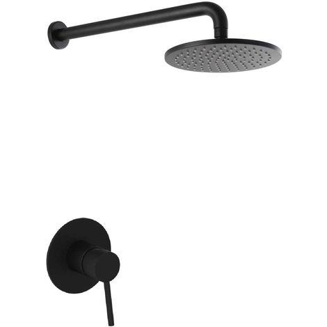 Moderno set de ducha negro para baño