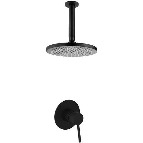 Set de ducha moderno de latón negro