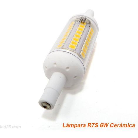 Bombilla LED Bajo Consumo MILAN R7S 6W con 570 Lúmenes 6000K Blanco Frío