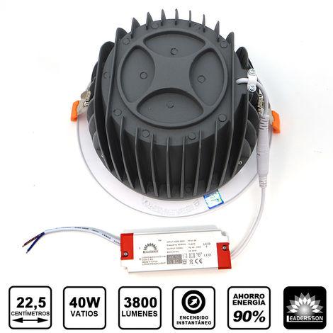 Pack 5 Downlight LED Redondo SUNT 40W con 3800 Lm. 6000K Blanco Frío