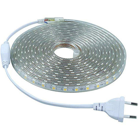 Tira LED Flexible Impermeable IP67 SMD2835 (12W y 1320 Lm /m) 1 Metro 60 Leds 6000K Blanco Frío