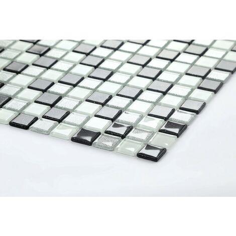 black silver white glitter glass kitchen bathroom mosaic