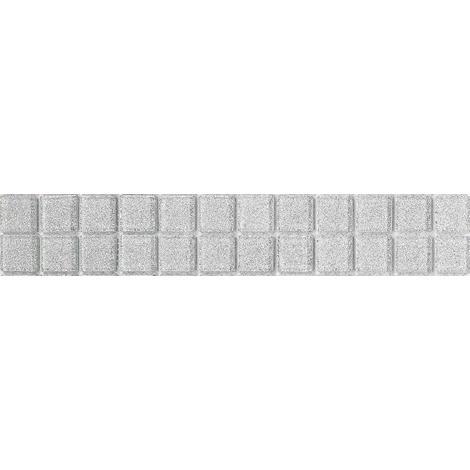 Silver Glitter Glass Mosaic Wall Tiles Strips Border Strip Bathroom Bath MB0073