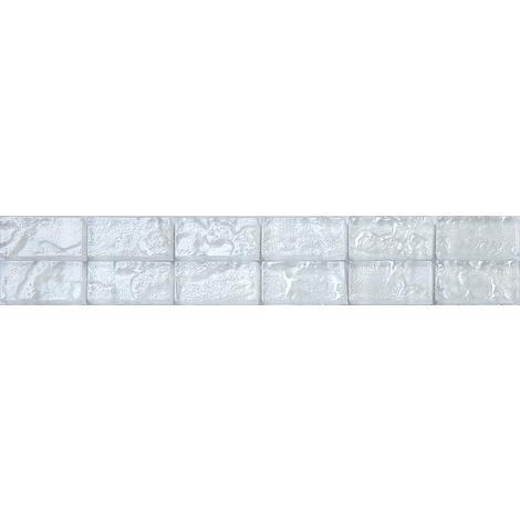 Textured Lava Pearl White Brick Bathroom Kitchen Feature Mosaic Tiles MB0118