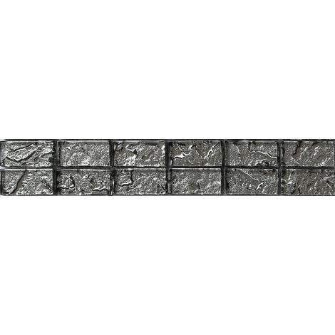 Textured Lava Liquid Silver Brick Bathroom Kitchen Feature Mosaic Tiles MB0121