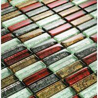 Glass Hong Kong Autumn Brick Bathroom Kitchen Feature Mosaic Tiles Sheet MT0006