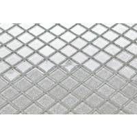 Silver Glitter Glass Feature Walls Borders Splashbacks Mosaic Tiles Sheet MT0073