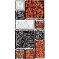 Autumn Hong Kong Foil Glass Mosaic Tiles Modular Random Mix Sheet MT0064