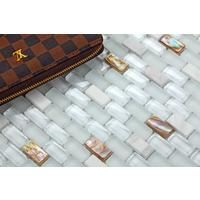 Mother of Pearl , Stone & Glass Mosaic Wall Tile Sheet (MT0148)