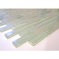 Stunning White Iridecsent Textured and Plain Glass Mosaic Wall Tile Sheet (MT0172)