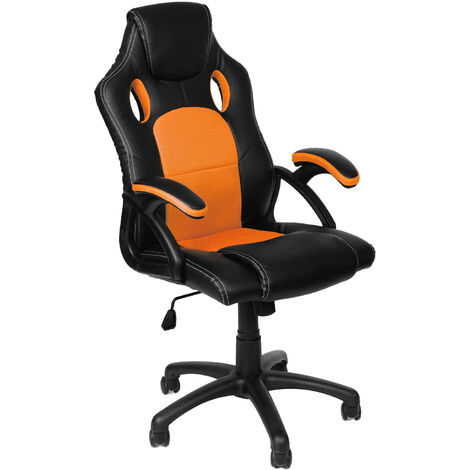 Racing Chefsessel Bürostuhl Drehstuhl Sportsitz Bürosessel Schreibtischstuhl Orange
