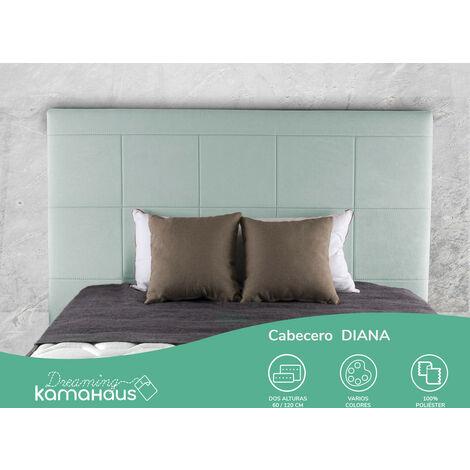 Cabecero Diana | Tapizado Tejido Nido | Antimanchas | Para camas de 105 cm | 115 x 60 cm | Para camas de 105 cm | Color Nido 16/Menta
