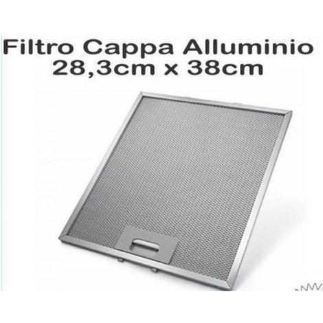 FILTRO CAPPA ALLUMINIO ELICA MISURE 28,3 cm x 38 cm Metallico GF03QB