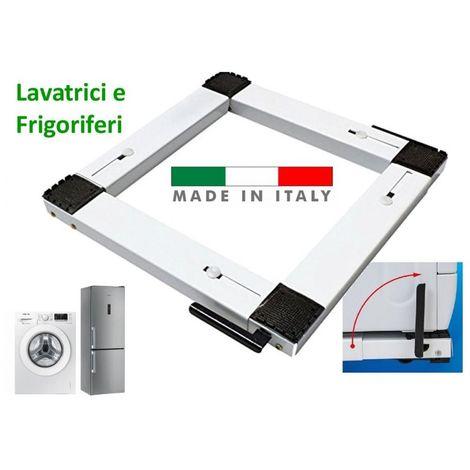 CARRELLO SPOSTARE LAVATRICE FRIGORIFERO DA 40 A 70CM MADE IN ITALY CON RUOTE LEVA