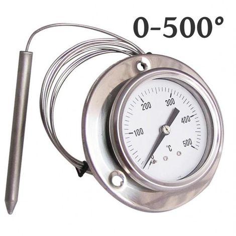 TERMOMETRO PER FORNO LEGNA FUMI 500 °C GRADI Ø 40 1//4  STUFA BARBECUE PIROMETRO