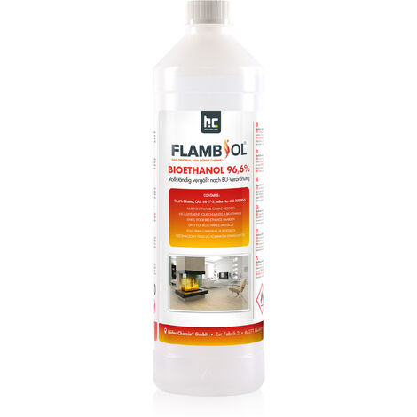 6 x 1 Litre Bioéthanol à 96,6% dénaturé