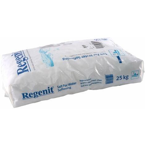1 x 25 kg Comprimés de sel évaporé Regenit pour la régénération des adoucisseurs d'eau