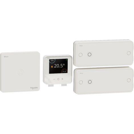 Wiser kit thermostat connecté pour radiateurs électriques, Schneider Electric réf. CCTFR6905